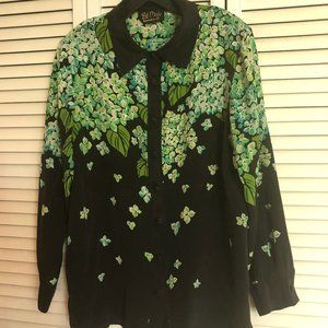 Vintage Silk Shirt with embroidery